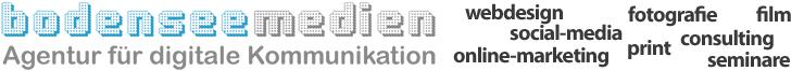 BODENSEE MEDIEN | Agentur für digitale Kommunikation - Webdesign - Social-Media - Fotografie - Film