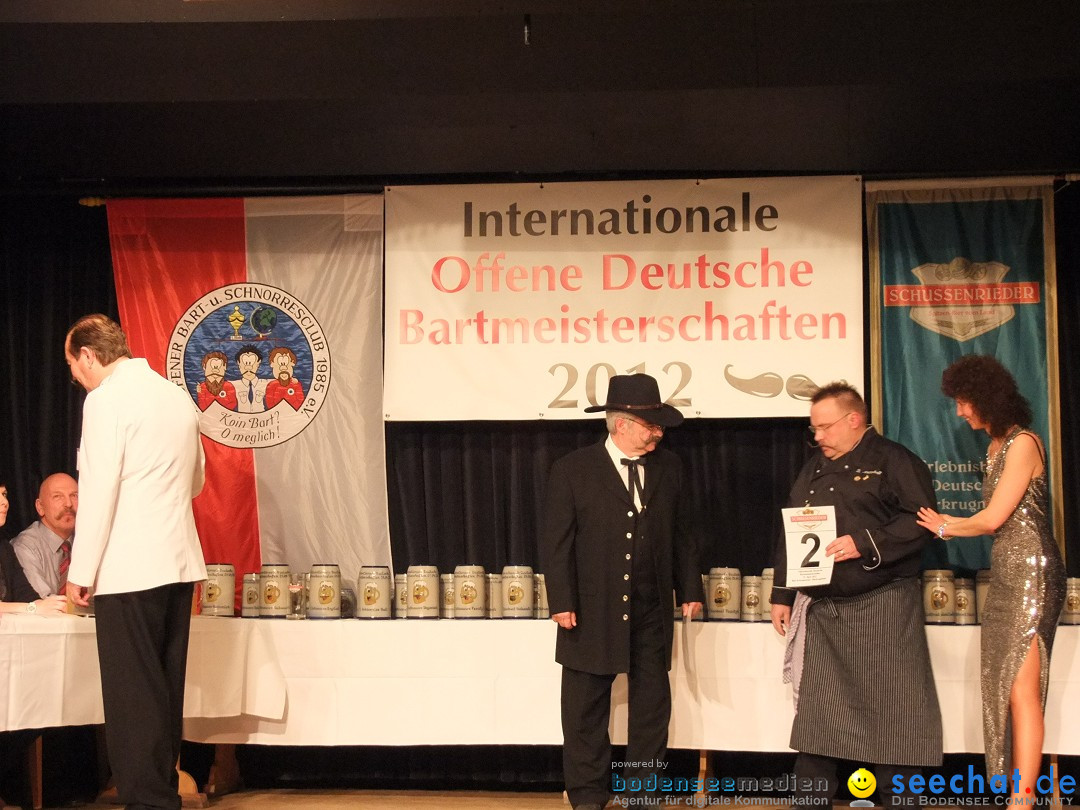 Internationale Deutsche Bartmeisterschaft: Bad-Schussenried, 21.04.2012