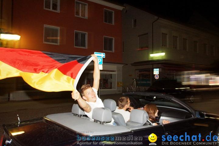 Fussball-EM: Deutschland vs. Griechenland 4-2: Stockach am Bodensee, 21.06.