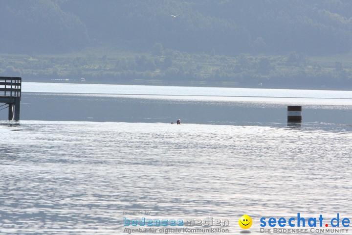 Bodenseequerung: Weltrekordversuch von ORCA - Bruno Dobelmann: Bodman am Bo