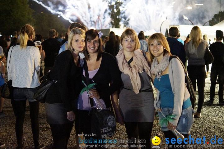 Feuerwerk - Seenachtfest 2012: Konstanz am Bodensee, 11.08.2012