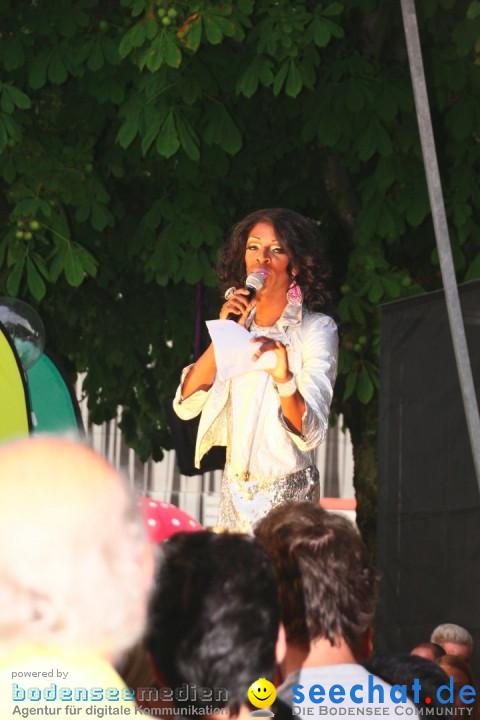 Stadtfest mit Fassanstich und Modenschau: Bregenz am Bodensee, 23.08.2012