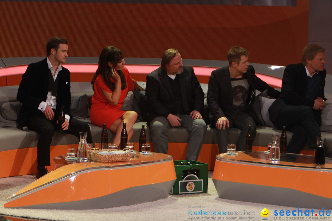 Wetten, dass..? Live: Justin Timberlake, Bruno Mars und Heino: Friedrichsha