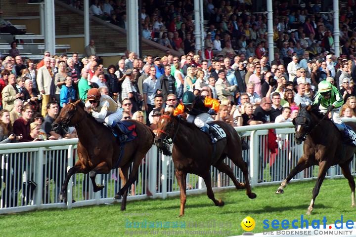 Pferderennen auf Galopprennbahn Iffezheim: Baden-Baden, 25.08.2013