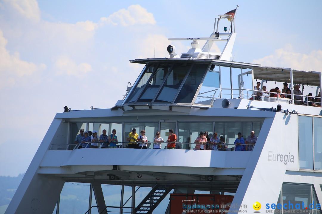 Wigald Boning durchquert den Bodensee: Friedrichshafen, 16.07.2014