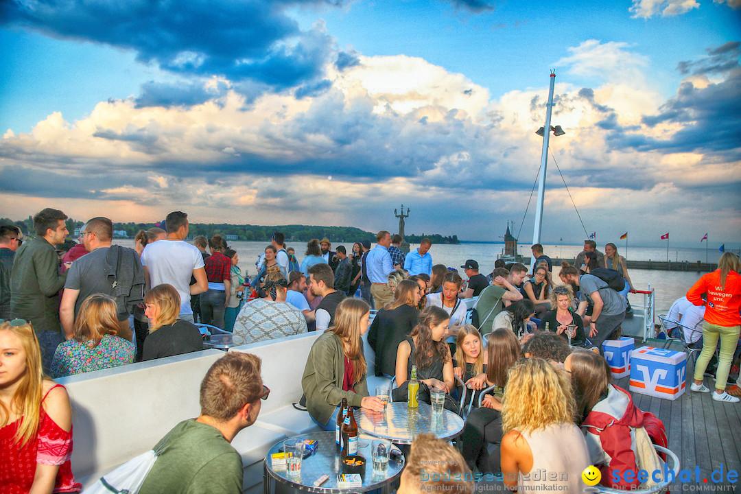 LAKE OFF MUSIC BOAT: Konstanz-Meersburg am Bodensee, 09.05.2018