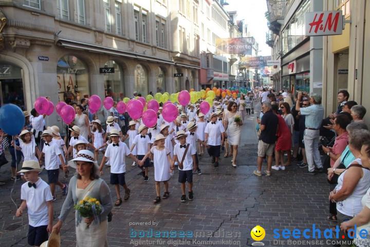 Kinderfest mit 30.000 Besuchern: St. Gallen, 20.06.2018