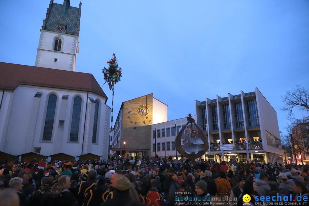 Gruenderumzug und Narrenbaumstellen: Friedrichshafen, 02.02.2019
