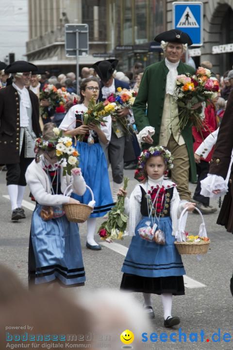 Sechselaeuten Kinderumzug - Fruehlingsfest: Zuerich, 08.04.2019