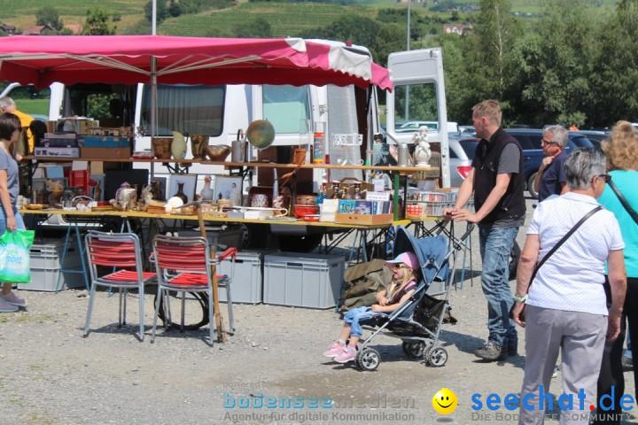 Flohmarkt in Altstaetten SG: Schweiz am Bodensee, 14.07.2019