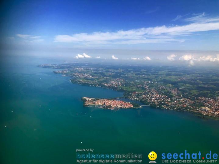 BODENSEE LUFTBILD: Bodensee aus der Luft, 06.08.2019