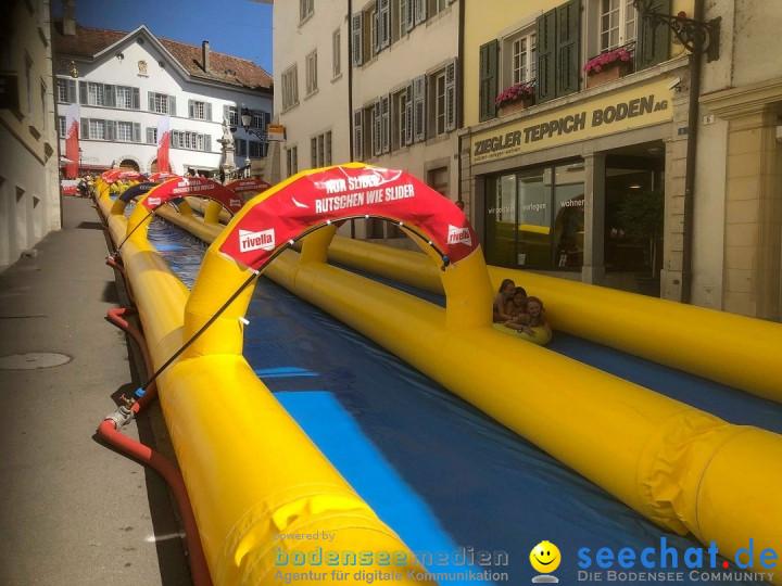 Slide my City - Wasserrutsche: Solothurn in der Schweiz, 18.08.2019