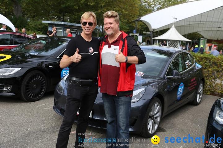 E-CANNONBALL: Die voll-elektrische Vergleichsfahrt: Mainau, 27.09.2019