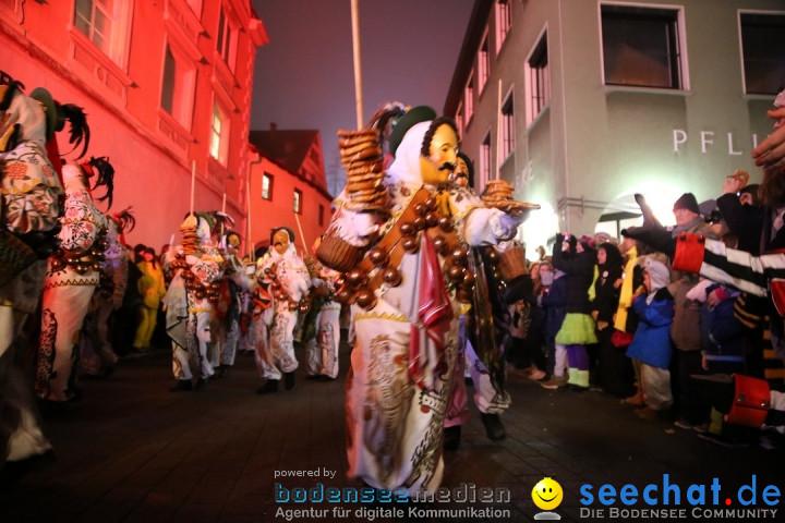 Narrentag des Viererbundes 2020: Nachtumzug in Ueberlingen, 25.01.2020