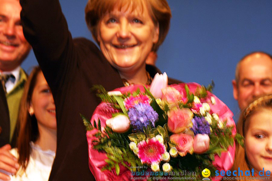 Kanzlerin Angela Merkel - CDU Wahlkampf: Ravensburg, 14.02.2011