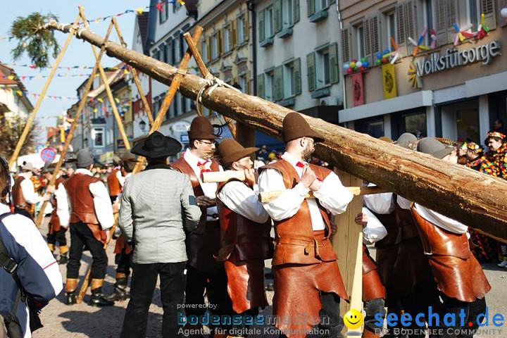 Narrenbaumstellen: Stockach am Bodensee, 03.03.2011