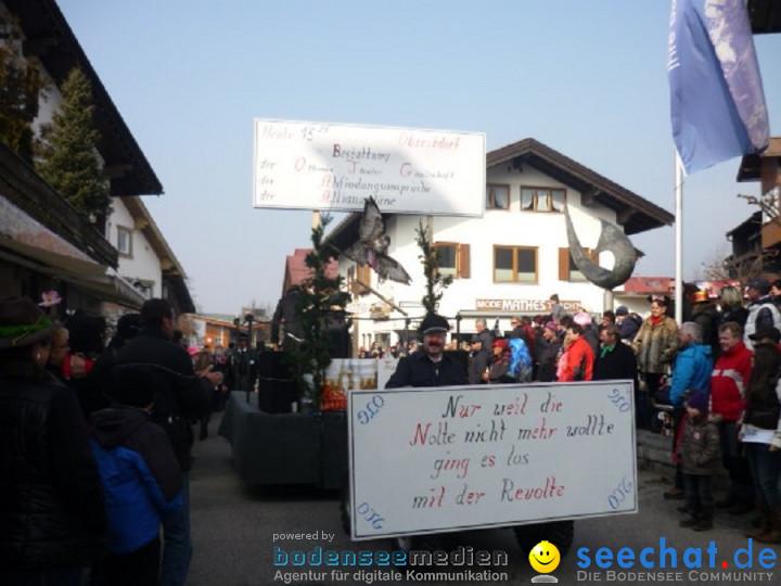 Faschingsball und Umzug: Oberstdorf bei Ravensburg, 06.03.2011
